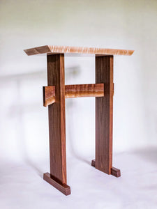 handmade wood standing desk
