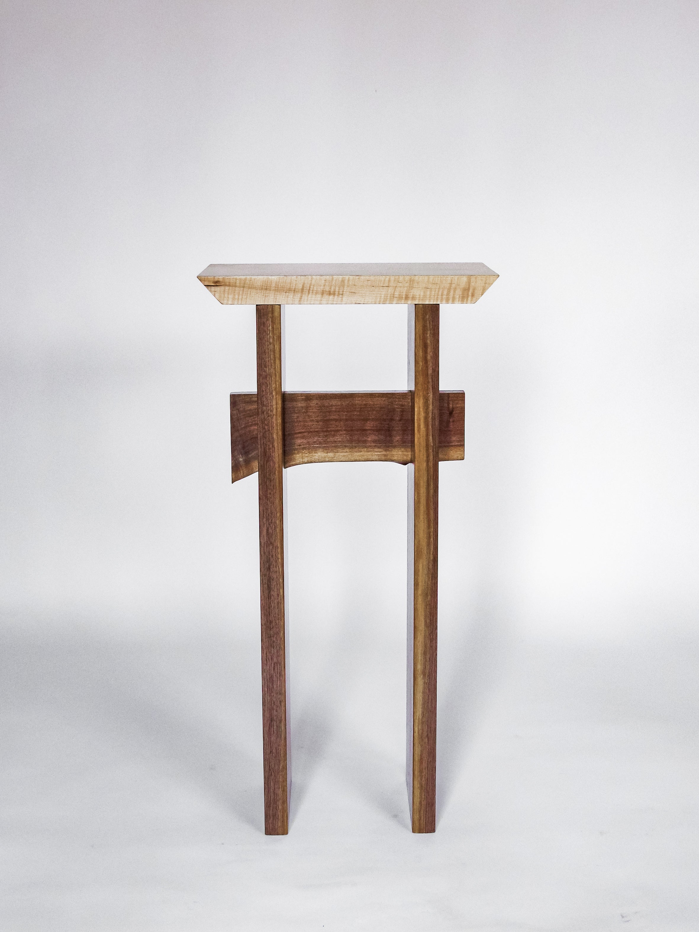 tall entryway table - minimalist wood furniture design