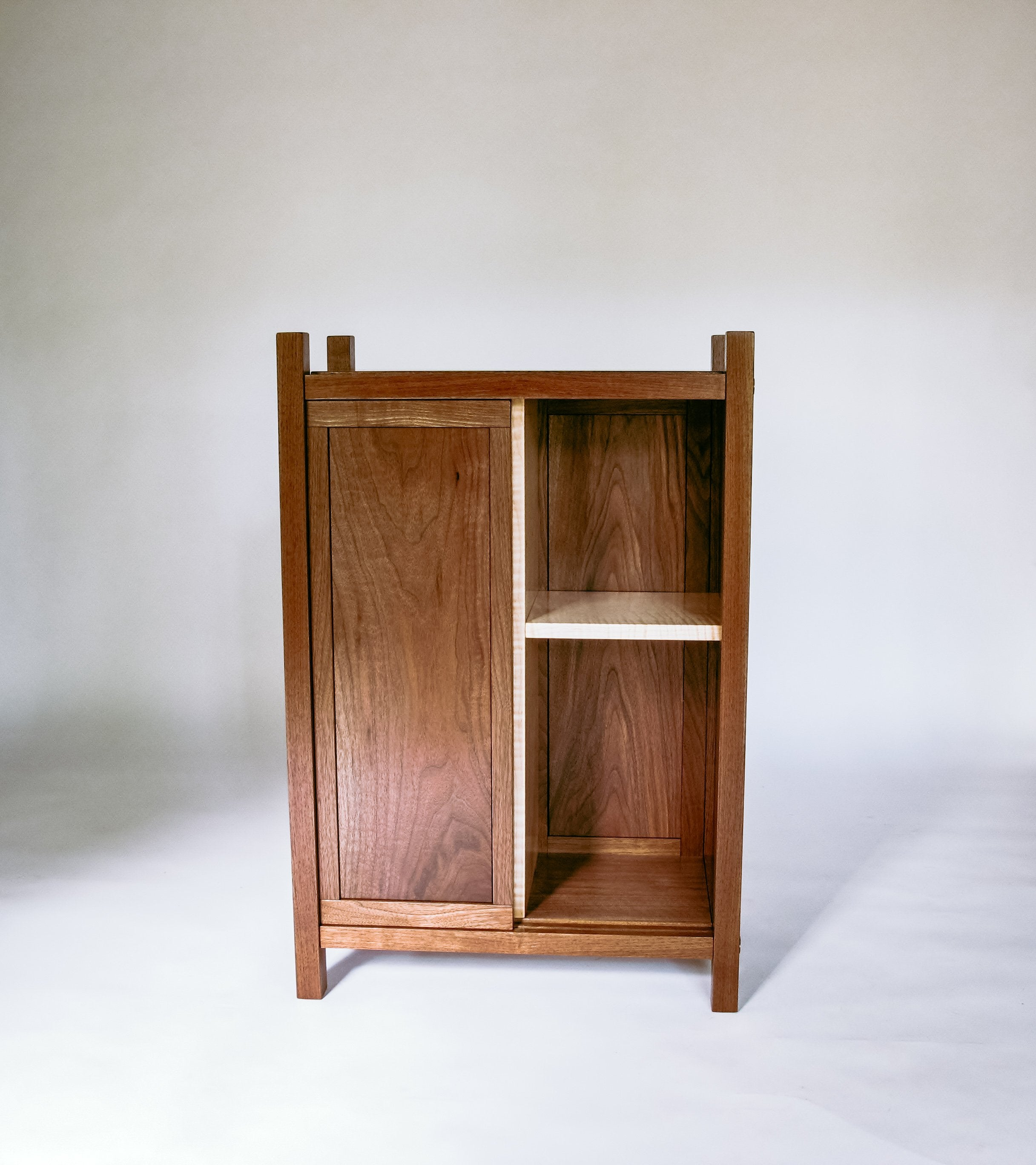 bar storage cabinet - small walnut cabinet