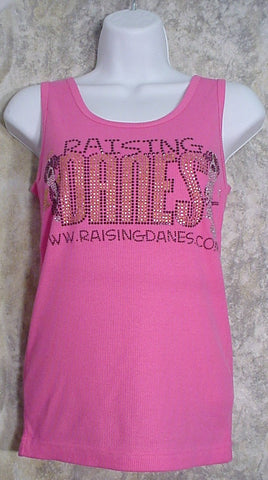 Raising Danes Ladies Tank Top - Crystal Logo