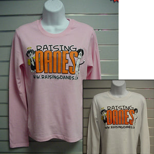 Raising Danes - Long Sleeve Ladies T-Shirt