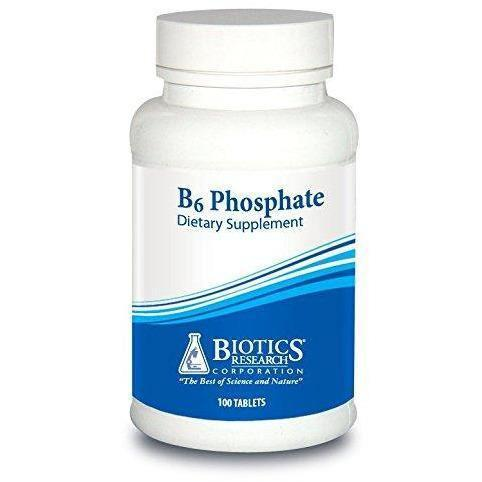 B6 Phosphate 100 Tablets by Biotics Research - 2 Pack - Vitasell.net