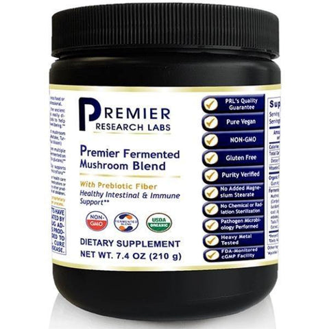 Fermented Mushroom Blend, Premier 7.4 oz Container (powder) - Premier Research Labs - 2 Pack - Vitasell.net