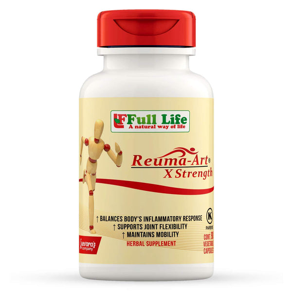 Full Life Reuma-Art X Strength Capsules - Extra Strength & Fast Acting Anti-Inflammatory - Joint Pain Relief - Vitasell.net