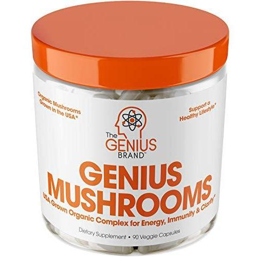 Genius Mushrooms 90 Veggie Caps - Vitasell.net