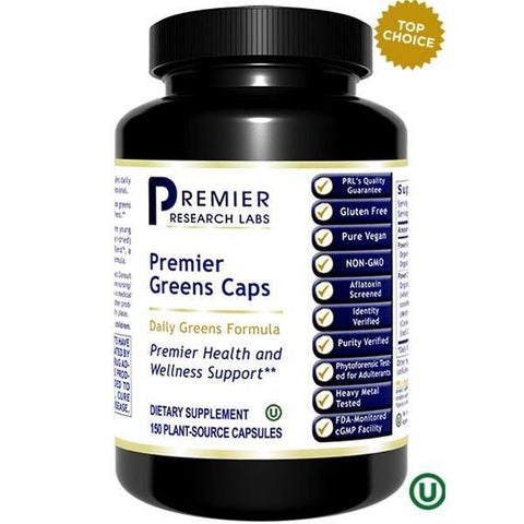 Greens, Premier  150 PLANT-SOURCE CAPSULES - Premier Research Labs - 2 Pack - Vitasell.net