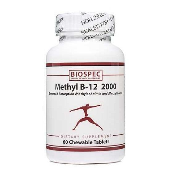 Methyl B-12 2000 60 Tablets - Biospec Nutritionals - Vitasell.net