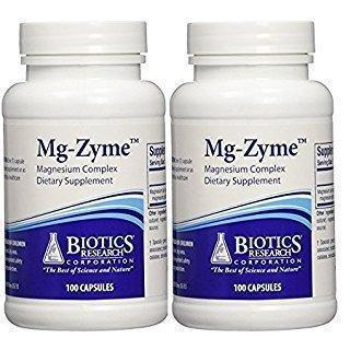 Mg-Zyme 100 Capsules - Pack of 2 - Biotics Research - Vitasell.net