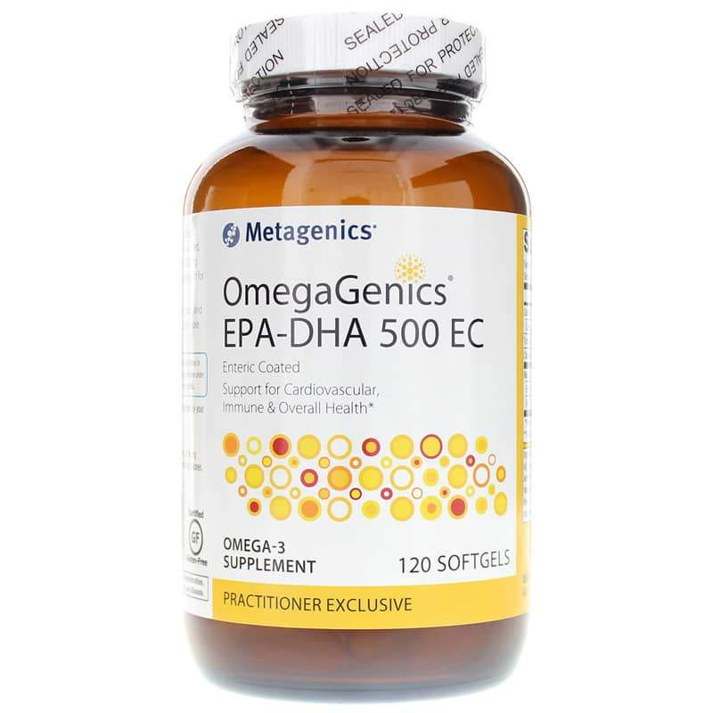 OmegaGenics EPA DHA 500 Enteric Coated 120 Softgels - Vitasell.net