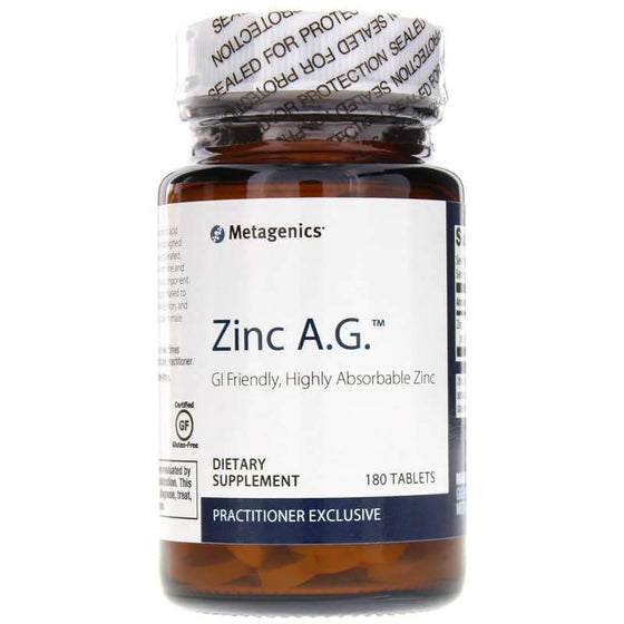 Zinc A.G. GI Friendly 180 Tablets - Vitasell.net