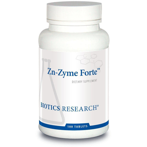 Zn-Zyme Forte 100 Tablets - Biotics Research - Vitasell.net