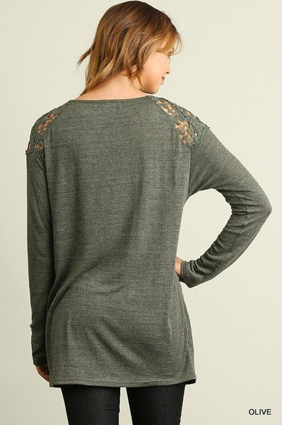 Fall Flare Lace Top - Free Shipping - C&S Clothing Co.