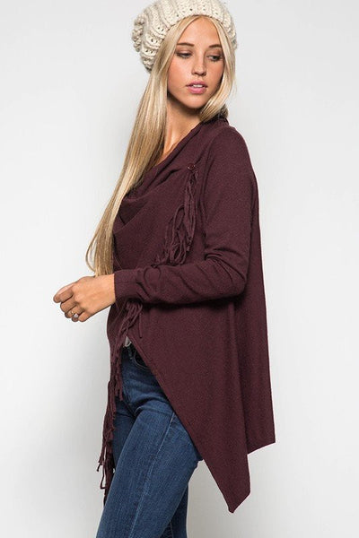 Feeling Fringy Cardigan Wrap - Free Shipping - C&S Clothing Co.