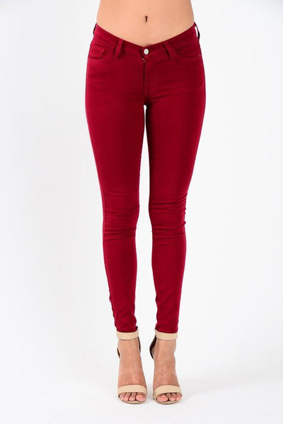 womens skinny jeans, womens skinnies, skinny jeans womens, skinnies for women, crimson skinny jeans, crimson skinnies, casual skinny jeans, casual skinnies, wine colored jeans, dressy skinny jeans, colored skinny jeans, holiday skinny jeans, womens jeans, free shipping