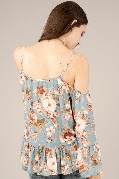 In Love with Floral Top, peach love top, womens trendy fashion, womens affordable clothing, cs clothing co, online boutique, fast and free shipping, free shipping, C&S Clothing Co.