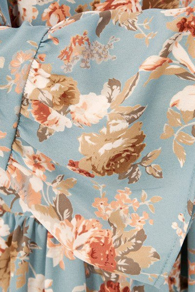 In Love with Floral Top, floral off shoulder top, peach love tops, womens trendy fashion, cs clothing co, online boutique, fast and free shipping, free shipping, C&S Clothing Co.