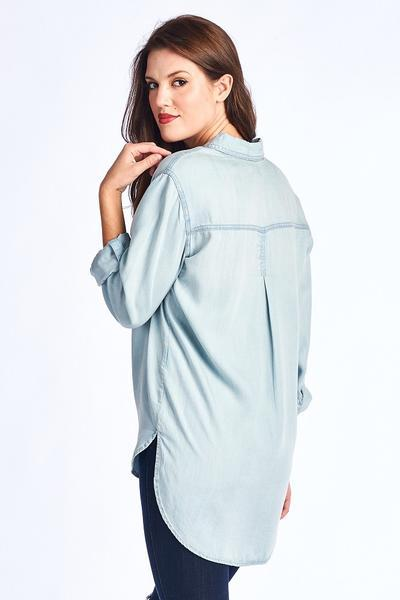 Women's denim tunic, women's denim tunic, women's trendy fashion, women's affordable fashion, online boutique, c&s Clothing co, c&s Clothing co, free shipping, fast and free shipping
