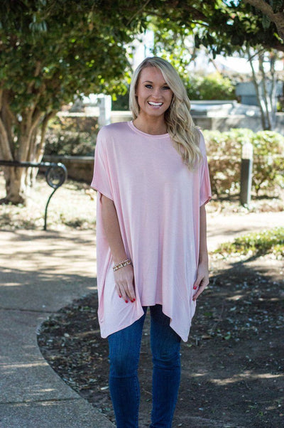 Peace love cake, peace love cake, Ezra tunic, blush tunic, online boutique, women's affordable trendy fashion, cs clothing co, c&s Clothing co, womens flowy tshirts
