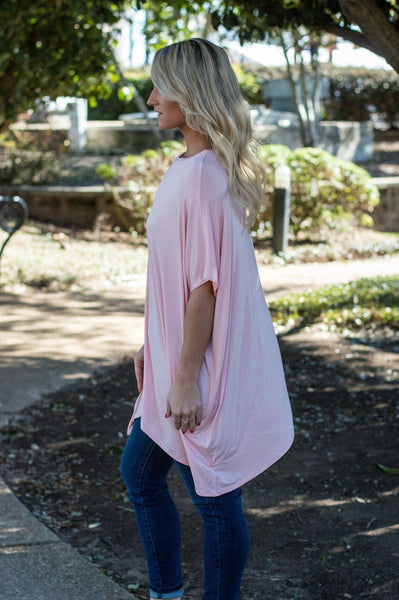 let them eat cake, let them eat cake ezra tunic, peace love cake, Ezra tunic, blush tunic, online boutique, women's affordable trendy fashion, cs clothing co, c&s Clothing co, womens flowy tshirts
