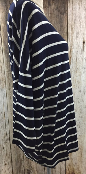 striped tee, trendy affordable clothing, online clothing boutique, All Striped Up Jersey Top - Free Shipping - C&S Clothing Co.