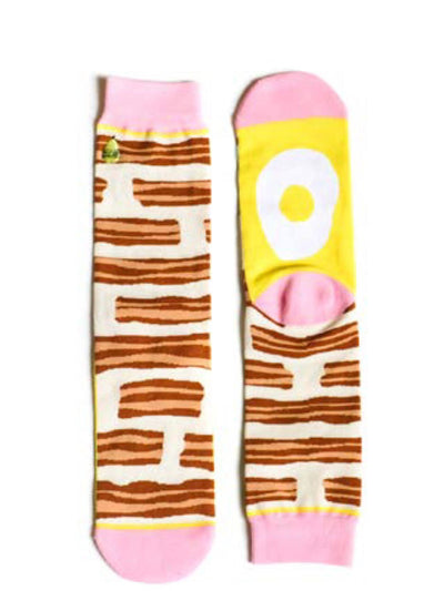 bacon & egg socks, comfy socks, womens padded socks, gift ideas, colorful socks, womens socks size 6-12, free shipping