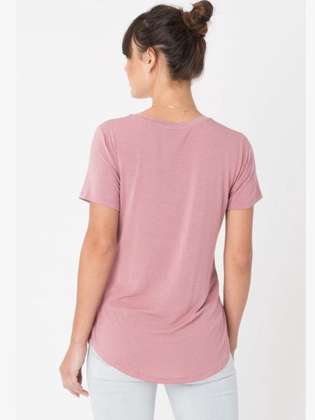Z Supply Pocket Tee- Blossom Rose - Free Shipping - C&S Clothing Co.