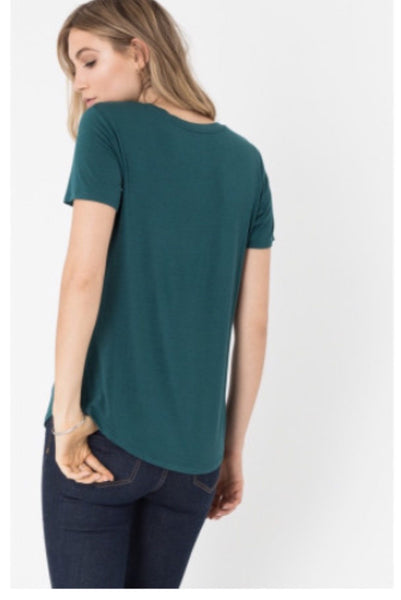 Z Supply Pocket Tee- Dark Turquoise - Free Shipping - C&S Clothing Co.