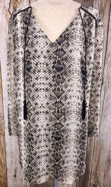 snake print dress, key hole dress, lined dresses, printed dress, long sleeve animal print dress, animal print dress, free shipping