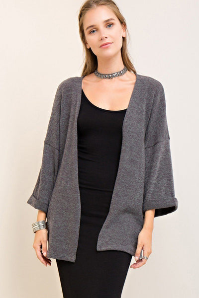 womens cardigan, charcoal cardigan, over-sized cardigan, free shipping