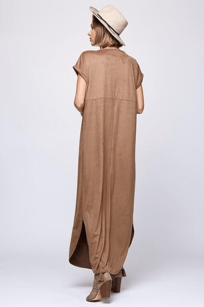 Suede me maxi dress, women's trendy fashion, suede maxi dress, c&s clothing co, cs clothing co, online boutique, women's fall fashion, fast and free shipping, free shipping