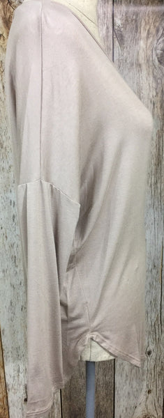 Southern Cross Top, womens taupe long sleeve tee, womens long sleeve top, womens trendy fashion, womens affordable fashion, womens affordable clothing, cs clothing co, online boutique, fast and free shipping, free shipping, C&S Clothing Co.
