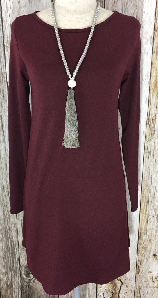 let them eat cake jordan dress, let them eat cake, peace love cake sweater dress, jordan dress, peace love cake, online boutique, womens wine long sleeve dress, womens lightweight long sleeve dress, wine dress, womens dresses, womens trendy fashion, womens affordable fashion, cs clothing co, c&s clothing co, online boutique, fast and free shippping,free shipping