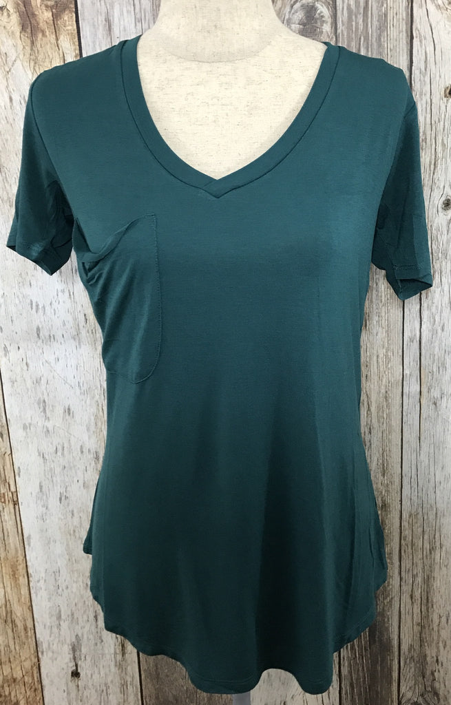 Z Supply pocket tee, jersey tee, dark turquoise tee, z supply tees, z supply tee with pocket, pocket tees, free shipping