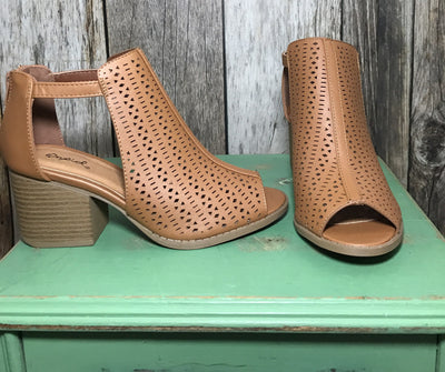open-toe booties, peep toe booties, mid heel boots, women's boots, boots for women, mid heel booties, booties for women