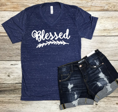 Blessed Tee- Navy - Free Shipping - C&S Clothing Co.