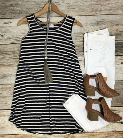 Stripe It Up Tunic - Free Shipping - C&S Clothing Co.