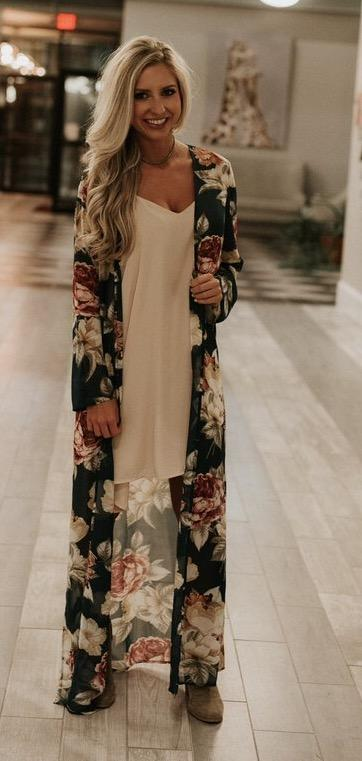 robyn Duster Kimono, Peace love cake, floral duster kimono, Peace love cake kimonos, womens floral kimonos, floral duster, online boutique, cs clothing co, c&s clothing co, womens trendy fashion, womens affordable fashion, fast and free shipping, free shipping