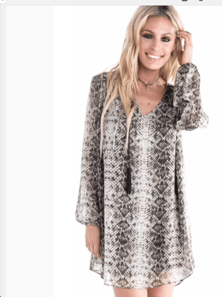 Wild for You Snake Print Dress - Free Shipping - C&S Clothing Co.