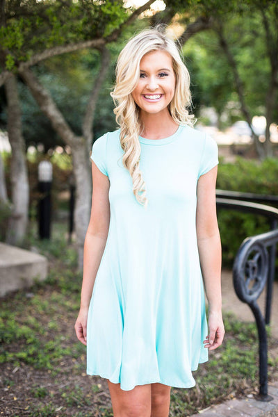 KC dress, let them eat cake, let them eat cake dress, womens mint short sleeve dress, soft flowy dress, womens summer dress, womens jersey dresses, womens trendy fashion, womens affordable fashion, cs clothing co, c&s clothing co, online boutique, fast and free shipping, free shipping