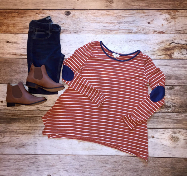 Patch Perfect Striped Top - Free Shipping - C&S Clothing Co.
