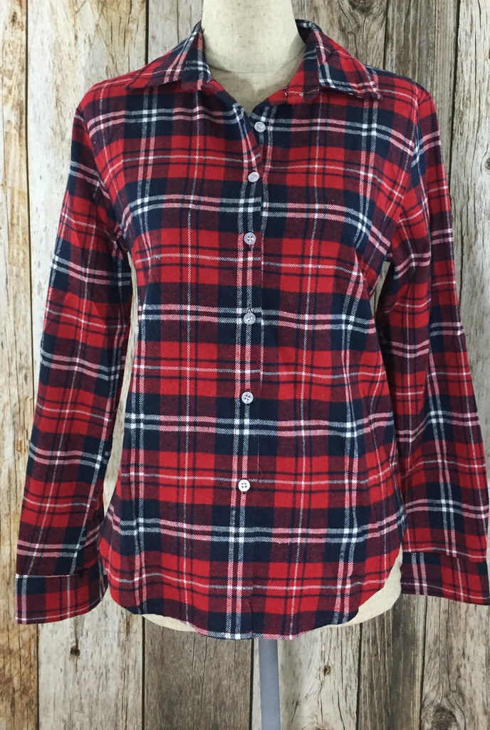 red flannel shirt, plaid flannel shirt, red plaid shirt, button down shirt, red button down, womens flannel shirt, womens flannel shirts, cs clothing co, c&s clothing co, online boutique, fast and free shipping, free shipping