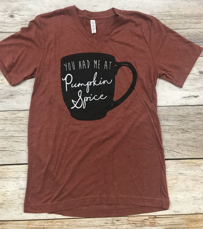 womens graphic tees, you had me at pumpkin spice tee, ruby's rubbish tees, fall graphic tees, free shipping