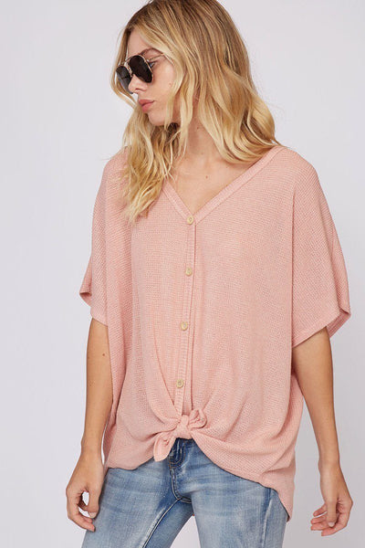 Tying the Knot Top- Blush