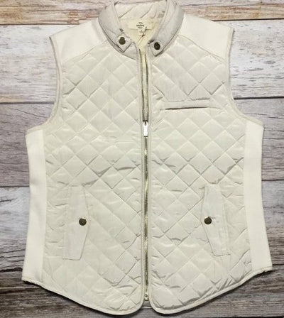 cream quilted vest, quilted vest, womens quilted vest, off white quilted vest, quilted vest ladies, quilted vest women, womens outerwear, ladies outerwear, outerwear woman's, outerwear ladies, free shipping