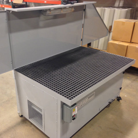 Self Cleaning Downdraft Tables For Grinding Welding And