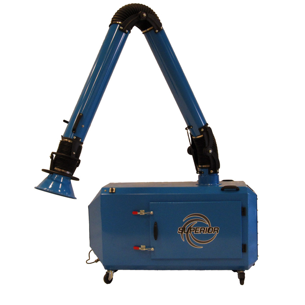 Superior sp1500 portable weld smoke collector 1500 cfm for Portable dust collector motor blower