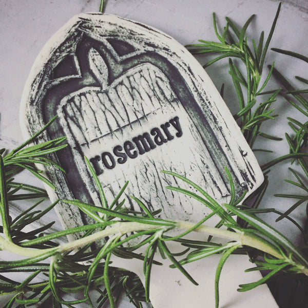 Tombstones Herb Markers / Lavender, Thyme, Rosemary