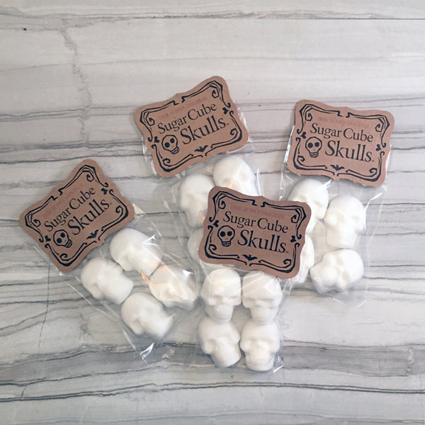 Bags of Skull Sugar Cubes, Dem Bones Original Kraft Label