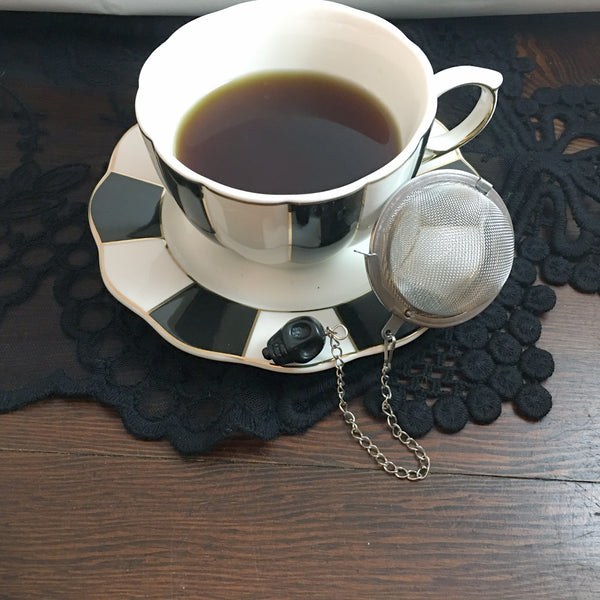 Tea Ball - Black Skull