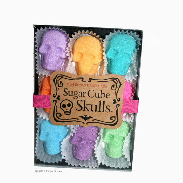 9-Pack Box Sugar Cube Skulls Colors